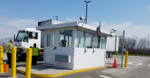 Parking Booth with Security Systems
